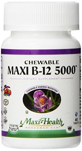 Maxi Health - à macher Maxi B-12 5000 Cerise et Berry 60 Comprimés