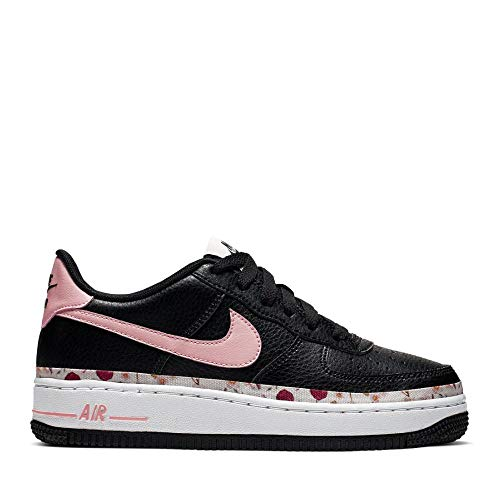 Nike Mädchen AIR Force 1 VF (GS) Basketballschuhe, Mehrfarbig (Black/Pink Tint-White-Pale Ivory 001), 38 EU
