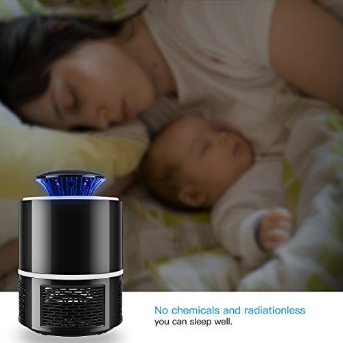 AICase USB UV Lampe Anti Moustique Électrique Tueur de Moustique Tueur D'insectes Mouches Piège,Surface utile jusqu'à 20m²,Pas Bruit,Pas Rayonnement.