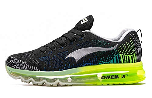 ONEMIX Trail Laufschuhe Men - 3D Stricken Air Luftkissen Leichtgewicht für Walking Gym Jogging Fitness Athletic Outdoor Sport Trainer Sneaker - HHL 39 -