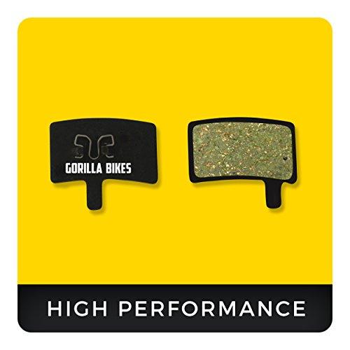 Gorilla Bikes Hayes Bremsbeläge Stroker Trail Carbon & Gram für Mountainbike Scheibenbremse I Organic Bike Beläge I Organischer Bremsbelag I High Performance Disc Brake Pads
