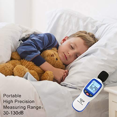 Geräuschmesser Portable Sound Level Meter Decibel Meter Webla Monitorhintergrundb Hohe Genauigkeit Messbereich Von 30-130Db Meter Lärm-Player Von Tragbaren Digitalen Schallpegel - Blau Bagless Staubsauger