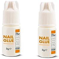Adhesivo para punta de uñas falsas súper fuerte The Edge 3G, paquete de 2.