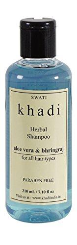 Khadi Herbal Aloe Vera & Bhringraj Shampoo, 210ml.  available at amazon for Rs.125
