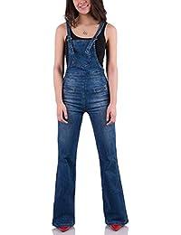 COMYCOM 70er Jahre Jeans Latzhose Used Washed