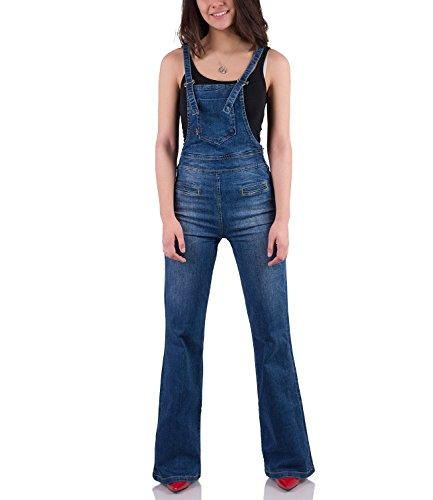 70er Jahre Jeans Latzhose Used washed 30/34
