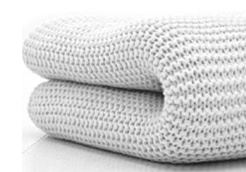 Belledorm 100% Cotton Cellular Blanket Throw for Bed or Sofa (King, White)