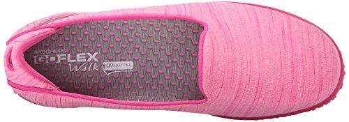 Skechers Go Mini Flex Femmes Toile Chaussure de Marche Hot Pink