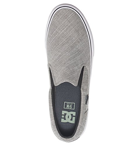DC Shoes Trase T M, Baskets Basses Homme Charcoal Grey