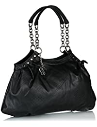Butterflies Women's Handbag (Black)(BNS 0350)