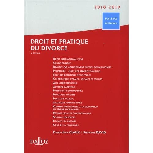 Droit et pratique du divorce 2018/2019 - 4e éd.