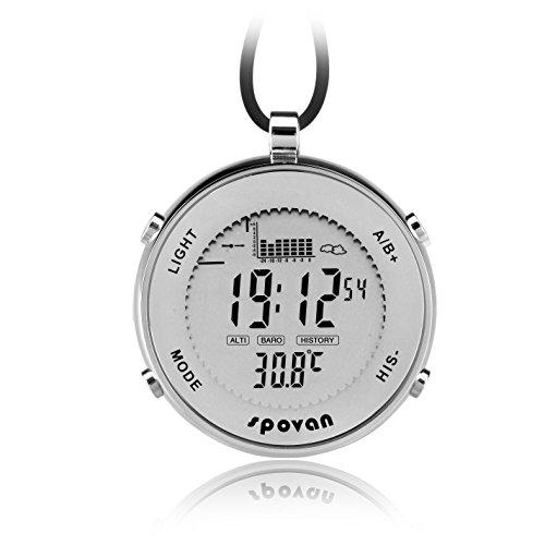 Outdoor Wasserdicht Metall Digital Angeln Barometer Unisex Taschenuhr geeignet für Klettern Running Fischen Wettbewerb und andere Sportarten