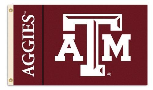 BSI NCAA Flagge mit Ösen, 91 x 152 cm, Texas A&M Aggies, 3' x 5' -