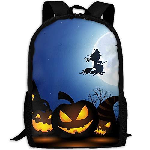 TRFashion Spooky Halloween Unisex Custom Backpack School Casual Sports Book Bags Durable Oxford College Laptop Computer Shoulder Bags Lightweight Travel Daypacks Rucksack (Arbeit Die Für Halloween-aktivitäten)