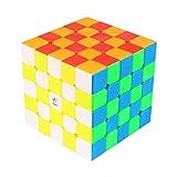 VIWIV 6 Cubo De Rubik Original, Colores COOJA Mágico 5x5x5, Velocidad Rompecabeza Cubos con Easy Turning, Brain Teaser para Niños y Adultos