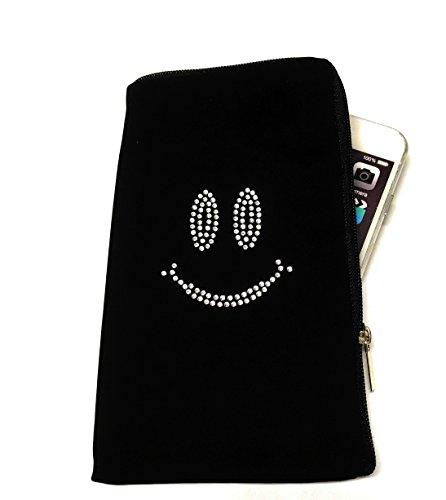 Cassa Del Telefono Mobile Con Cerniera Softcase Nero Con Motivo Di Strass Dog-2 Adatto Per Apple Iphone X - Custodia Protettiva Per Telefono Cellulare Custodia Slim Cover