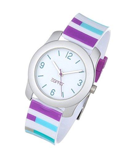 Esprit Kinderuhr Mädchenuhr Alu Quarz Kunststoff Uhr mit Farbstifte ES000U64048