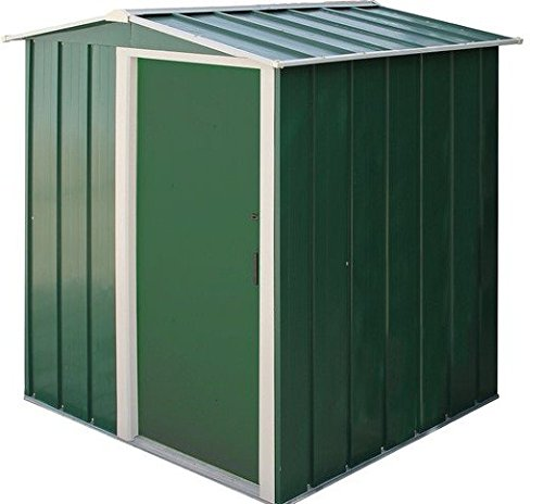 Sapphire Pent 6×4 Metal Shed Green