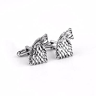 Game of Thrones Inspired Stark Wolf Cufflinks Game of Thrones Costume Accessories