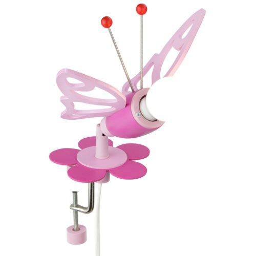 Elobra Kinder Lampe Klemmspot Falter Wandleuchte Kinderzimmer Holz,rosa 122877