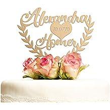 Suchergebnis Auf Amazon De Fur Cake Topper Hochzeit Personalisiert