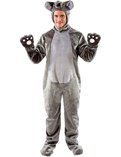 Erwachsene Damen Herren Tier Zoo Koala Dschungel Verkleidung Kostüm Extra (Australien Kostüme Dschungel)