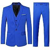 P.L.X Hochzeitsanzug Herren Anzug Slim Fit Smoking Fuer Formales Arbeit
