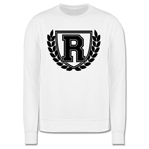 Anfangsbuchstaben - R Collegestyle - Herren Premium Pullover Weiß