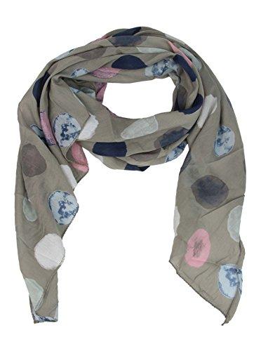 Seiden-Tuch Damen Punkt-Print - Made in Italy - Eleganter Sommer-Schal für Frauen - Hochwertiges Seidentuch / Seidenschal - Halstuch und Chiffon-Stola Dezent Stilvoll Gepunktet von Zwillingsherz