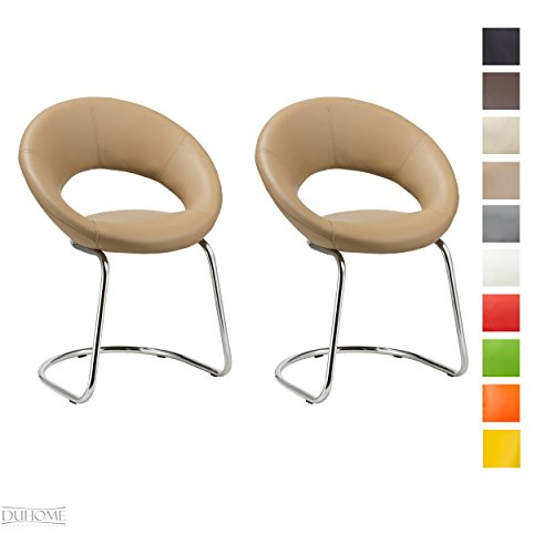 Konferenzstuhl 2er Set Esszimmerstuhl CAPPUCCINO Besucherstuhl Beistellstuhl aus Kunstleder Farbauswahl Freischwinger TYP - 679