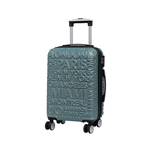it luggage Destinations Ii - 8 Wheel Hard Shell Single Expander Suitcase with TSA Lock Koffer, 54 cm, 48 liters, Grau (Ice Blue)