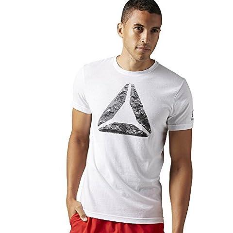Reebok Men's Break and Build T-Shirt, White, Large