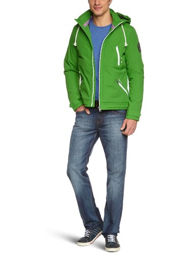 TOM TAILOR Denim Herren Jacke 35206010012/nylon tech jacket, Gr. 46 (S), Grün (7351 spring leaf green)