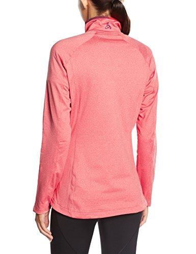 Odlo Damen Pullover Midlayer 1/2 Zip Vail Pomegranate Melange