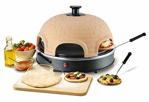 Pizzarette XL Pizzaofen mit Metall Backplatte für Pizza bis 22,5 cm Durchmesser