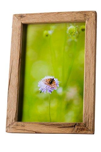 Alt-Holz Bilderrahmen alte Eiche Mittelschicht 50x60 – Rustikal und nachhaltig angefertigte Rahmen aus Reiner Handarbeit als besonderes Geschenk (50 x 60)