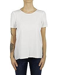 Dondup Femme S672JF184D000 Blanc Viscose T-Shirt