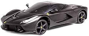 Bburago Maisto Francia m81242b-Vehículo en Miniatura-Ferrari Laferrari RC, Negro Mate, (Escala 1/14
