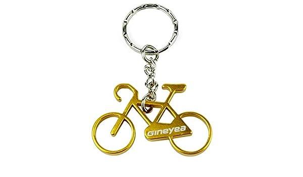 Schlüsselanhänger Aluminium Fahrrad inkl Flaschenöffner Gelb