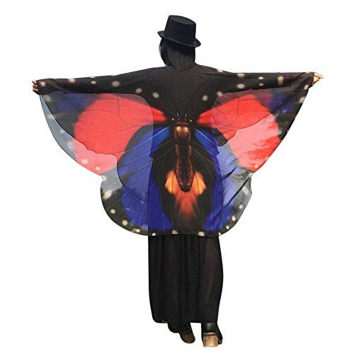 TIFIY Damen Schmetterling Flügel Schal, Damen Halloween Cosplay Kostüm Tanzen Zubehör Strickjacke Party Schals Outwear 160 * 140cm