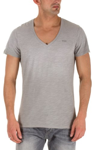 M.O.D Jeans Herren V-Ausschnitt Shirts MEN`S T-SHIRT Grey