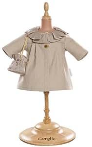 Corolle - Y7412 -Vêtement Poupée 36cm - Mademoiselle Corolle - Manteau Ivoire & Sac