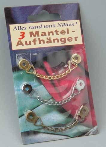 3 Mantel - Aufhänger / Mantelaufhänger gold silber bronze zum annähen,ze