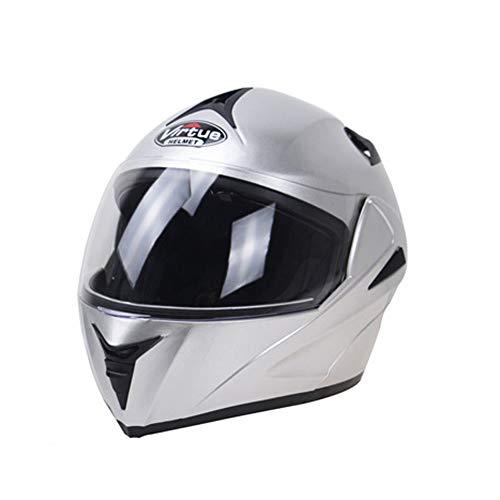 Casco moto per adulti a doppia lente integrale Caschi per moto anti-appannamento Flip-up protettivo caschi da motocross Cappellini moto