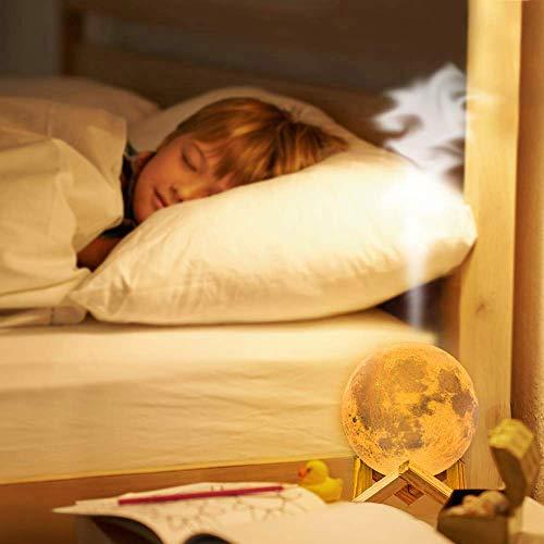 wishing umidificatore Ultrasuoni Illuminazione 3D lunar lamp Diffusore di Aromi 880 ml Diffusore di Olio Essenziale 3 Colori LED Umidificatore per Aromaterapia Casa Bambini Mood Lights