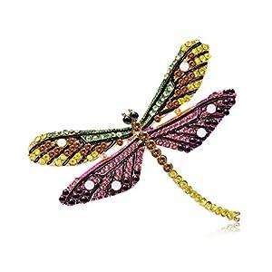 qiuxiaoaa Libelle Brosche Insekt Bunte Mode Charms Schmuck Abzeichen Bankett Schal Pins