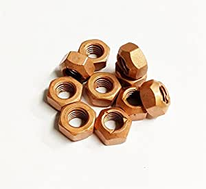 Copper Nuts And Bolts >> 10x M10 Copper Flashed Exhaust Manifold 10mm Nut High Temperature