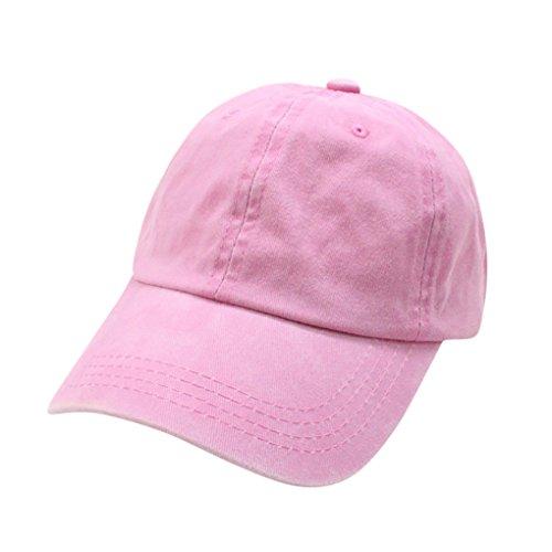 BABY HAT JYJM Baby Kids Solide Baumwolle Sanp zurück Baseballmütze Junge Mädchen Hüte Kappe sunhat (Rosa, Size:50-54CM) (Green Adjustable Hut)