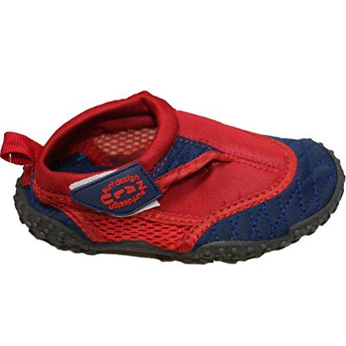 Nalu Erwachsene blau schwarz aqua Schuhe Red/Navy