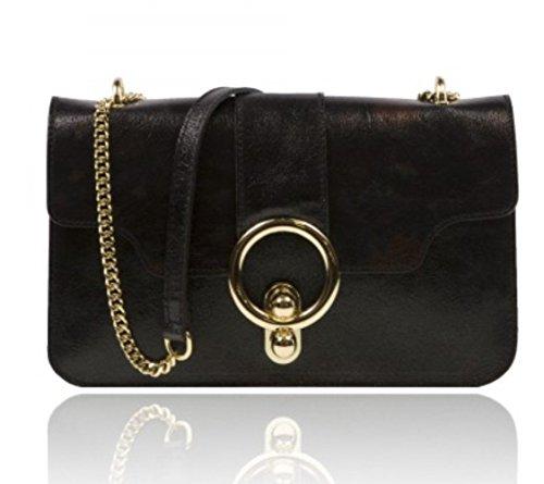Elle Won , Damen Satchel-Tasche schwarz schwarz, grau (Tasche Elle)